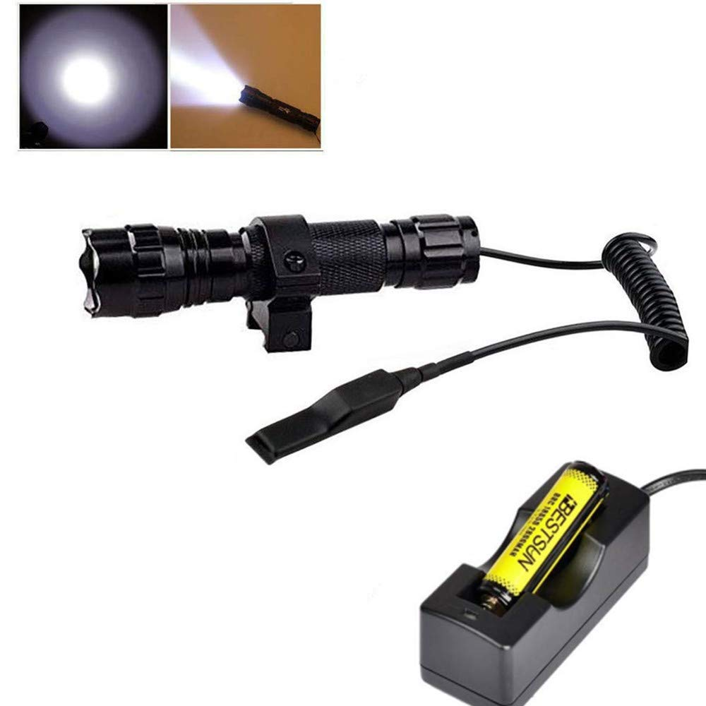 BESTSUN Tactical Flashlight Waterproof Picatinny