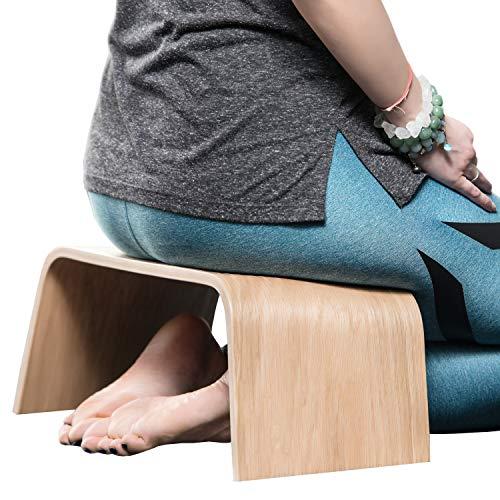 Robuste Holzbank, Geeignet für Tee-Zeremonien, Yoga, Seiza-Pose, Meditation für Anfänger, als Gebetsbank und für eine gesunde aufrechte Körperhaltung - Sitzbank Holz