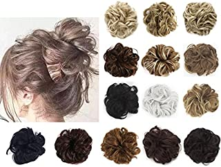 SAYFUT Hair Bun Extensions Donut Synthetic Wavy Curly Messy Elastic Hair Bun Scrunchy Scrunchie Hair Bun Updo Hairpiece Hair Ribbon Ponytail
