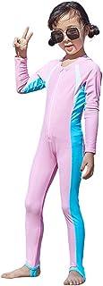 Digirlsor Kids Wetsuit for Boys Girls One Piece Full Body Long Sleeve Swimsuit UV Sun Protection Swimwear Surf Suit