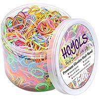 1500-Piece Hoyols Premium Elastic Hair Rubber Bands (Multi-Color)