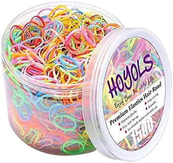 1500-Piece Hoyols Premium Elastic Hair Rubber Bands