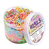 HOYOLS Baby Hair Ties Hair Rubber Bands for Toddler Infants Kids Girls Thin Small Hair Elastics 1500 Piece Pack
