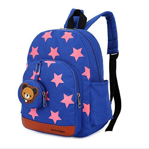 JameStyle26 - Zaino per bambini con orsacchiotto e stella, turchese (Turchese) - shoulder-handbags
