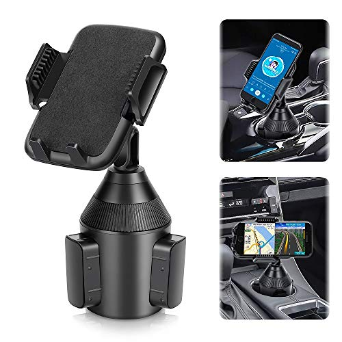 Upgraded Car Cup Holder Phone Mount,Universal Adjustable Gooseneck Cup Holder Cradle Car Mount for Cell Phone iPhone 12 Pro/11 Pro Max/11/X/Xs/Xs Max/8/8Plus,Samsung,LG, Sony