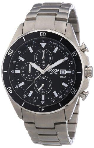 Boccia Herren-Armbanduhr XL Chronograph Quarz Titan 3762-01