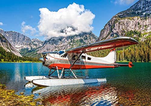 Castorland B-53025 Floatplane on Mountain Lake, 500Te Puzzle, bunt