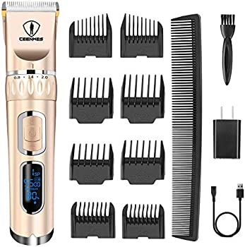 Ceenwes 3-Speed Cordless Heavy Duty Hair Clippers