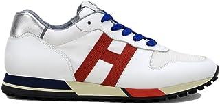 Hogan Scarpa Uomo Running H383 HXM3830AN50JQQ0PL3 Sneakers Pelle Bianca