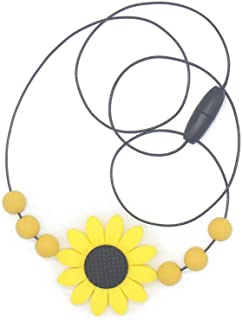 Kidoll Newborn Silicone Baby Teether Teething Necklace Kids Flower Shape Teethers Children Chewing Soft Toys