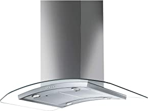 SMEG KIV90XE, Built-In Island Decorative Hood, 90cm Universale, Glass and Stainless Steell - 1 Year Warranty