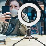 FOLOSAFENAR Luz de Relleno para cámara Luz de Relleno para fotografía Equipada con trípode de Escritorio, para Vivir, para Maquillaje