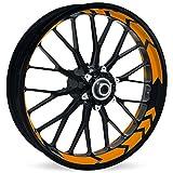 Motoking Felgenbettaufkleber im Racing Arrow Design - Komplettset für 16' bis 19' - Farbe & Breite wählbar