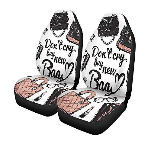 Beth-D Set voor autostoelen, verschillende glazen, voor horloges, smartphone, koffiekopje, geur, lippenstift, letters, voorstoelen, universele beschermer, 14-17 inch