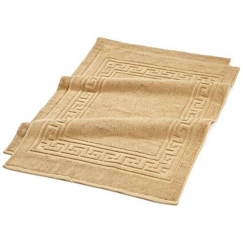 Superior Badvorleger in Hotel- und Spa-Qualität, 2er-Set, aus 100% hochwertiger gekämmter Baumwolle, langlebig und waschbar, 2er-Pack, Toast, je 55,9 x 88,9 cm