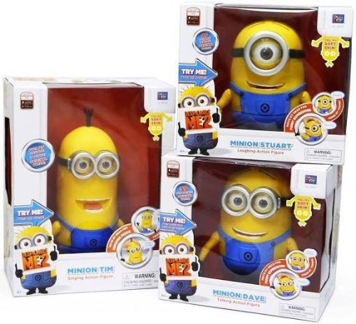 Despicable Me 2 Minion 9' Collector Talking figure doll Thinkway DAVE TIM STUART