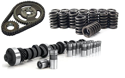 Chevy SBC 350 HP RV Stage 2 420/443 Lift Camshaft &lifters, Valve Springs & Adjustable Double Row Timing Chain Kit