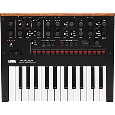 Korg Monologue Monophonic Analog Synthesizer with Presets-Black (MONOLOGUEBK) from Korg USA Inc.
