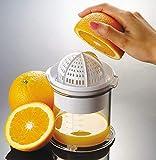 My-Gastro Manuelle Zitruspresse Orangenpresse Liter Orangen Presse Zitronen Saft Entsafter mit Behälter