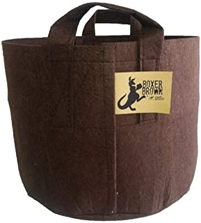 ROOT POUCH BROWN FABRIC POT, 15 GALLON WITH HANDLE, BUNDLE OF 10 Best Quality!