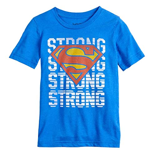 Boys 4-12 Jumping Beans DC Comics Superman Strong Short Sleeve Graphic Tee, Blue (4)
