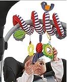 JYSPORT Lit Bébé Jouet–Enrouler Autour d'activité Spirale Poussette Housse de siège Auto Toys–Lit à Suspendre Neuf Infant Jouets en Peluche–avec 0–36Mois bébé (Cute Bird)