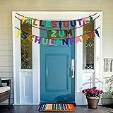 iZoeL Schuleinführung Schulanfang Einschulung Banner Deko Alles Gute Zum Schulanfang Filz Girlande + 15 Konfetti Luftballon für Junge Mädchen - 6