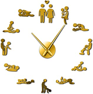 xuyuandass Reloj De Pared,Reloj De Pared Silencioso Moderno DIY Habitación para Adulto Gigante Decorativo