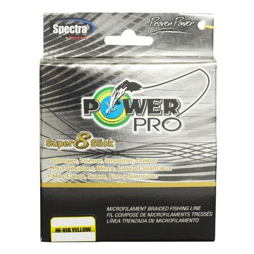 PowerPro 31100400300Y Super 8 Slick Braided Fishing Line 40Lb 300