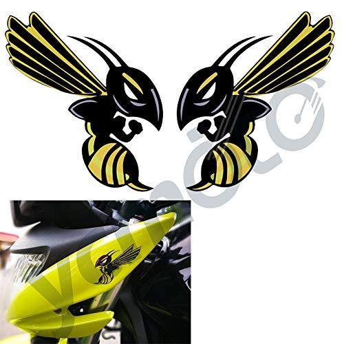 vlandho Für Hornet Honda Decals Aufkleber Angry Bee Hornet X2 Aufkleber86X100Mm