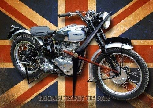Vintage Sign Designs Triumph Trophy Tr5 Motorrad Metall Uhr