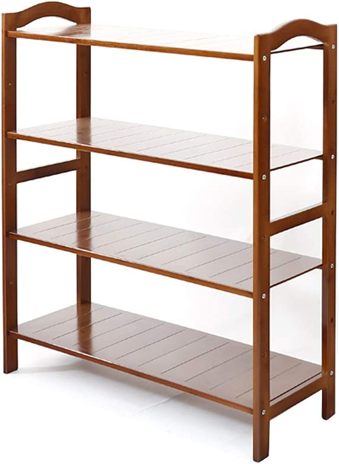 DR shoes Rack Bamboo shoes Rack - 3 4 5 Layer Arc Handle Simple Inssizetion Environmental Predection Material Dust Simple shoes Rack Storage Shelf (Size   49x26x80cm)