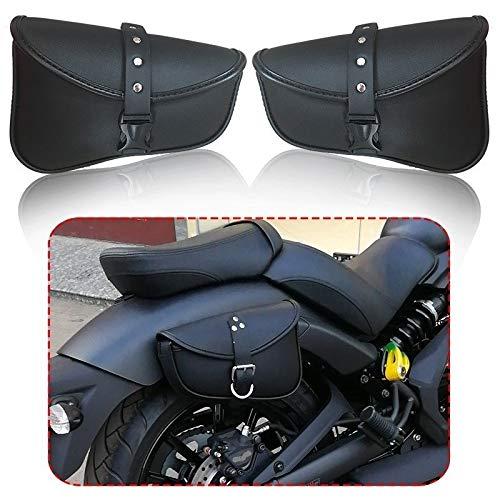 SUSHANCANGLONG Motocicleta Sillín Bolsas PU Cuero Swingarm Bag Bolsas de Herramientas de Almacenamiento para Harley Sportster 883 1200XL (Color Name : One Pair)
