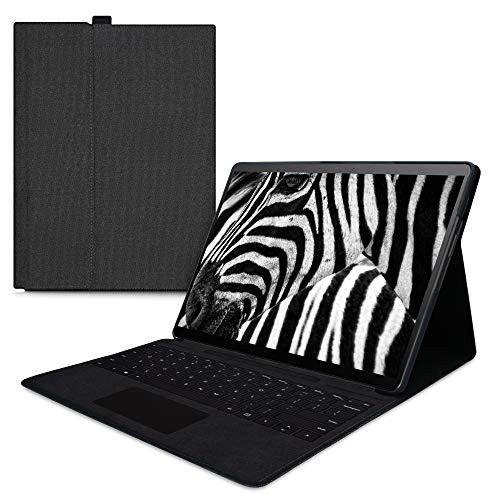kwmobile Case Compatible with Microsoft Surface Pro X - With Stand and Compatible with Type Cover - Dark Grey