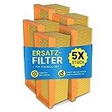 Flachfaltenfilter 5 Stück Ersatz für Kärcher 6.414-498.0 Abluftfilter Hepa-Filter Lamellenfilter Zubehör Ersatzteile für Staubsauger/Nassstaubsauger/Trockensauger/Mehrzwecksauger