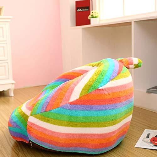WAYERTY Children's armchair, Children sofa Mini lounger Couch Bean bag Kid chair Colorful rabbit Cute Cartoon Plush toy Washable-D W52xH28cm(20x11inch)