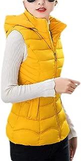 Macondoo Women Puffer Vest Waistcoat Winter Hooded Quilted Warm Down Vest Coat