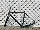 Telaio per bicicletta in carbonio lucido 3 K, telaio per bicicletta ciclocross, freno a disco, telaio da strada, 55 cm (per BSA) + forcella da ciclismo