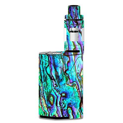 Skin Decal Vinyl Wrap for Smok GX350 Kit Vape Mod Skins Stickers Cover / Abalone Ripples Green Blue Purple Shells