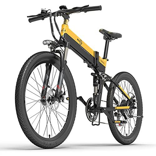 Lixada 500W 26 Pulgadas Bicicleta Eléctrica de Asistencia Eléctrica Plegable E-Bike 10.4AH Batería 100km Alcance
