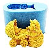 Stampo Silicon - Orsetto - Culla 3D - Candele - Resina - Gesso - Idea Regalo Natale e Compleanno - Calchi in Silicone - Stampino per Uso Artigianale