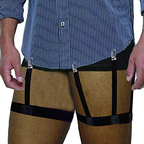 Shirt Stays for Men Adjustable Shirt Garter Suspender Belts for Police Military