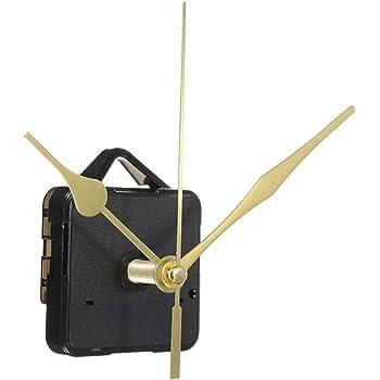 DOITOOL Movimiento de Reloj de Cuarzo silencioso Mecanismo de Reloj silencioso Kits de Reloj de Eje Largo Movimientos de Reloj de Pared Mecanismo Piezas con 3 Manos Sin batería (Oro)