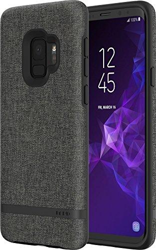 Incipio [Esquire Series] Carnaby Case für Samsung Galaxy S9 - von Samsung zertifizierte Schutzhülle (grau) [Baumwollartige Oberfläche I Robuste Hartschale I Edle Optik I Hybrid] - SA-918-GRY