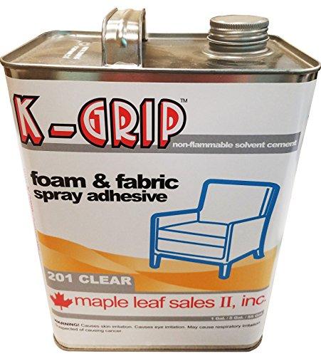 K-Grip Clear Foam and Fabric Spray Adhesive - 1 Gallon