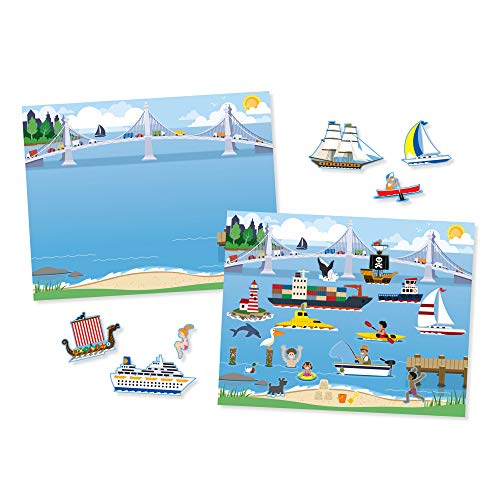 Melissa & Doug Reusable Sticker Pad: Vehicles - 165+ Reusable Stickers