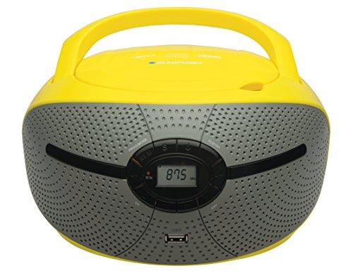 Blaupunkt BB6VL Boombox mit Radio/CD/Mp3-Player (mit LCD-Display, USB) gelb/grau