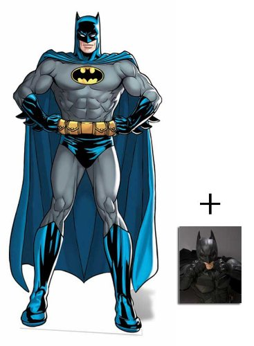 Fan Pack - Batman The Dark Knight Lifesize Cardboard Cutout / Standee DC Comics Style - Includes 8x10 (25x20cm) Star Photo