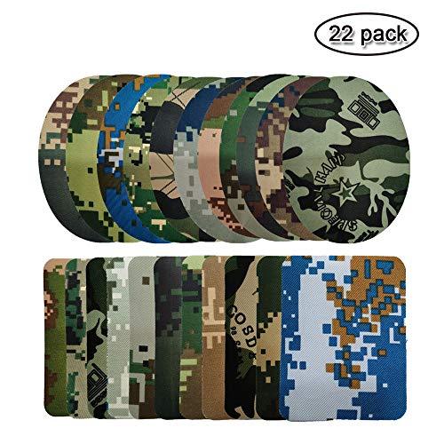 Aliyer 26 Stück Bügelflicken Patch Kleidung Sofa Tuch Patches zum Aufbügeln Aufbügelflicken Patch Zum Bügeln Und Nähen. (Camouflage)