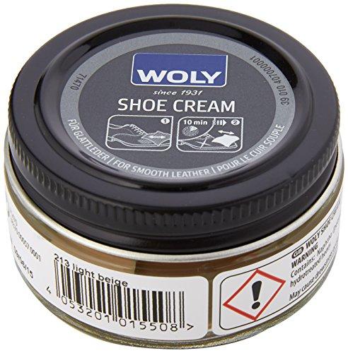 Woly Shoe Cream,  Unisex Erwachsene Schuhpflegeprodukt , Beige (Light Beige) , 50 ml